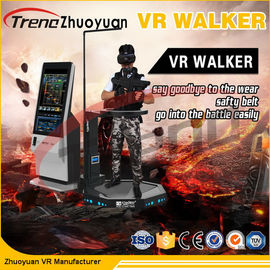 Video Game Virtual Reality Treadmill Workout With Motion Platform