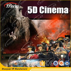 Electric Motion 5D Movie Theater  8 / 9 / 12 Seats With 6 DOF Hydraulic Platform