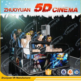 3 DOF Virtual Reality 5D Movie Theater With Electric Motion Dynamic Seats System