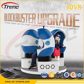 Orange / Blue / Black Color 9d Movie Theater , Full Motion Simulator Multi-seats
