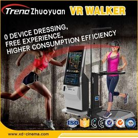 China 9D Virtual Reality Treadmill Amusement Park Equipment Sports With Fitness Effect supplier