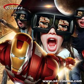 7 dimensions cinema Simulator Metal Screen 6 / 9 Seats With Wind Effects For Multiplayer CS Fights