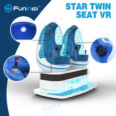 1.2KW 360 Degree Motion 9d VR Simulator Cinema Two Egg Seats for Theme Park
