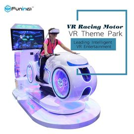 China 5 Games 9D VR Simulator / Motorcycle Racing Simulator 1250X3065X2338 Mm Size supplier