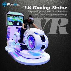 China Real Feeling Car Driving Vr Simulator Motorcycle Racing Vr Cinema For Game Zone supplier