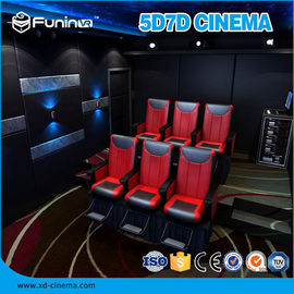8 , 9 ,12 Seats 7D Cinema Theater With Hydraulic / Electric Platform