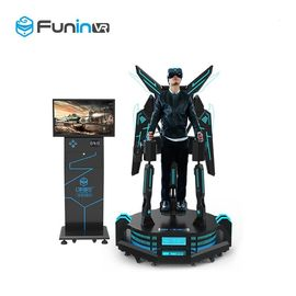 2.0kw Standing Eagle Flying Game Machine / Amusement Park 9d Virtual Reality Equipment