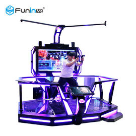 VR Walking Virtual Reality Equipment Stand Platform 0.9KW With Boxing Games