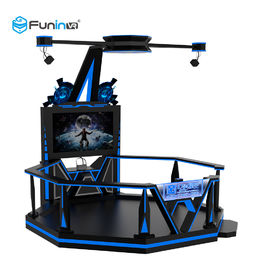 Amusement Park Virtual World Simulator 0.9KW Black 220V 9D VR Space Walk Boxing Game Ride