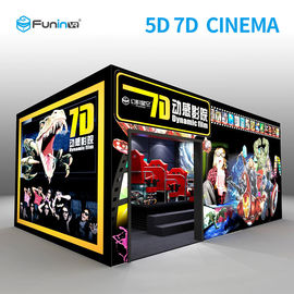 6 DOF Gun Shooting Stereo 7D Simulator Cinema With 3D VR Hanger 2.25KW