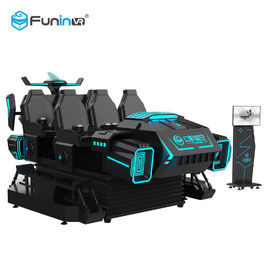 China Coin System 9D VR Simulator VR Theme Park Ride 6 Seat Back Vibration supplier