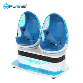 China Blue White Color Two Seats 9D VR Ride Cabin Cinema Virtual Reality simulator For Kids Amusement Park​ supplier
