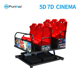 China High Resolution 7d Cinema Simulator With 4.6.9.12 peoples  Gun Shooting And 7d Movies supplier