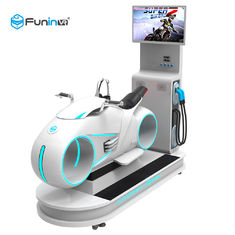 White With LED Lights  1250*3065*2338mm vr 9d motion 100%  simulator racing simulator for 1 player