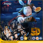 China Safety Theme Park Roller Coasters 5D Movie Theater With Hydraulic System For film company