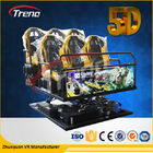 China 70 PCS 5D Movies + 7 PCS 7D Shooting Games Safety Theme Park Roller Coasters 5D Cinema Simulator With Hydraulic System company