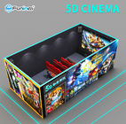 110V Fights Shooting Game 7D Cinema Simulator Rider Metal Screen 6 / 9 Seats