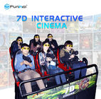 China Dynamic Cabin 5D / 6D / 7D / 9D Cinema Simulator Roller Coaster Ride Home Theater company