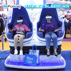 360 Rotation Virtual Reality Simulator Two Seats VR Egg Cinema For Amusement Park