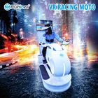 White With LED Lights  220V  1 player 9D Vr Cinema Type Funinvr  1250*3065*2338mm 9D Moto Racing