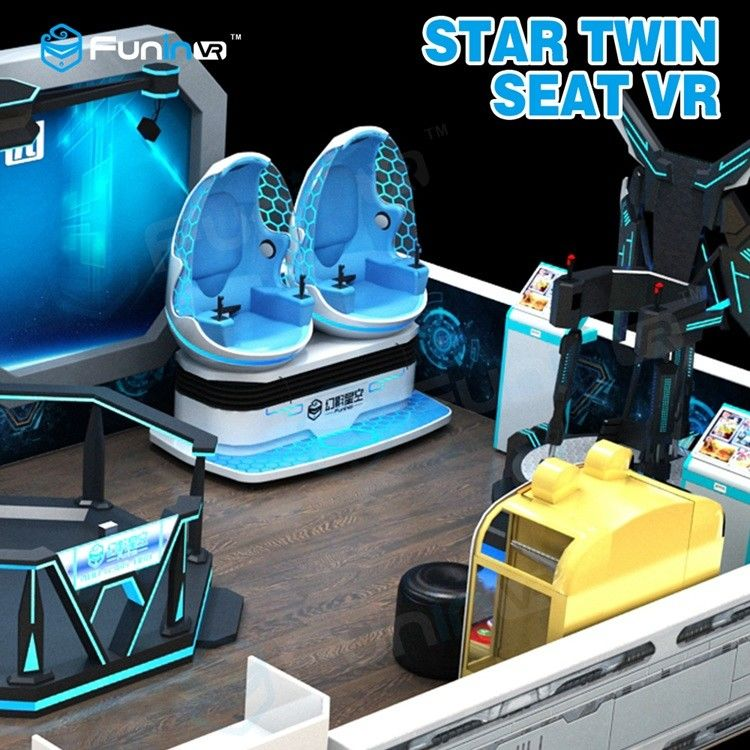 a4c976ce8ab2 China Two Seats 9D VR Ride Cabin Cinema Virtual Reality simulator For Kids  Amusement Park supplier