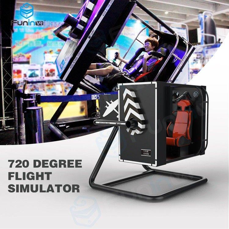 Intelligent Induction Seat Belt 720 degree VR Flight Simulator In Malls