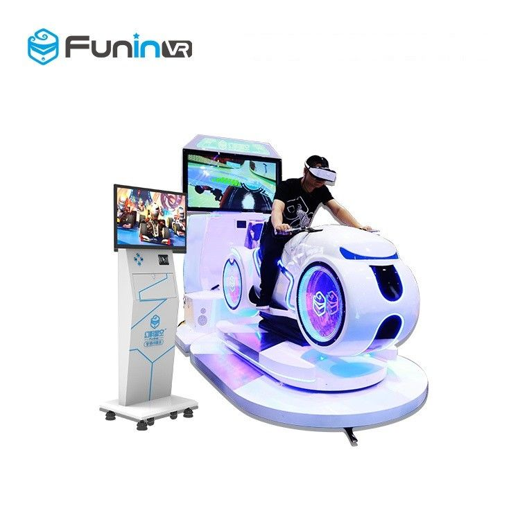 220V   white color multiplayer eye-catch appearance  Car Driving Vr Simulator Motorcycle Racing with deepon E3