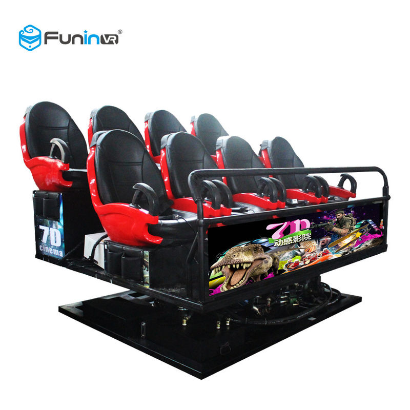 110V Fights Shooting Games 7D Cinema Simulator Rider Metal Screen 6 / 9 Seats
