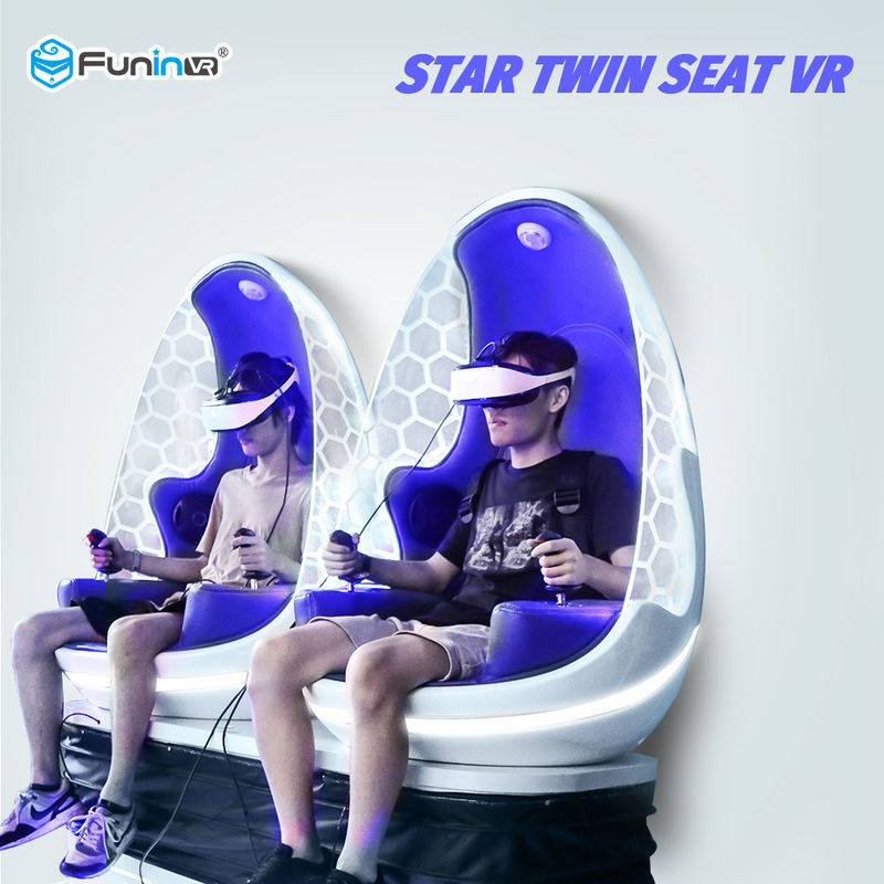 2 Players 9D VR Simulator 360 Degree Wind Blowing , Leg Sweep For 4+ Years Old