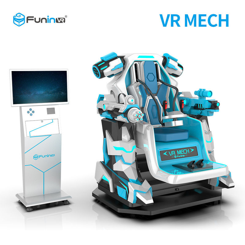 Interactive Dynamic Platform Virtual Reality Cinema Simulator  / 1 Player VR Mecha Game Machine
