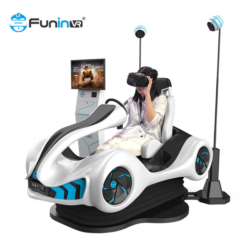 kids indoor playground equipment vr racing car driver game 2players