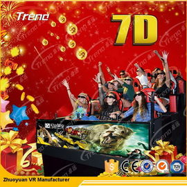 Movable Digital Control 7D Movie Theater 4 Seats / 6 Seats With Hydraulic System