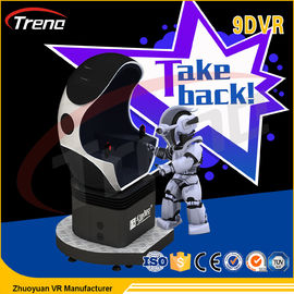 China Extraordinary Experience Video Game 9D VR Cinema Simulator 360 Degree Rotation factory