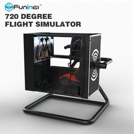 China Black / Yellow One Player Flight Simulator Virtual Reality With 50 Inch Screen factory