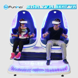 Full Automatic Mode Virtual Reality Simulator Cinema Blue With White Color