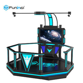 220V VR Space Walking Platform Game Machine 1 Player Blue With Black