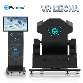 China Theme Park 9D VR Vibrating Simulator With Pneumatic 6 Dof Platform factory