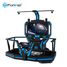 Blue With Black High Disposition Htc VR Space Platform  with 1 player 9d Virtual Shooting Simulator