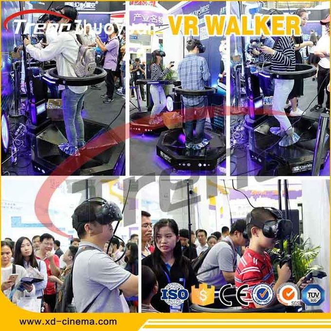 9D Virtual Reality Treadmill Amusement Park Equipment Sports With Fitness Effect