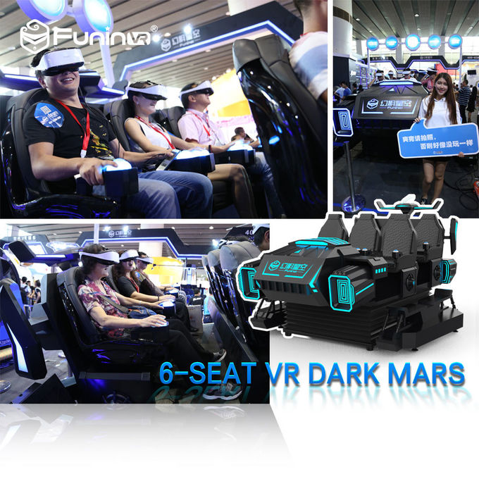 Coin System 9D VR Simulator VR Theme Park Ride 6 Seat Back Vibration