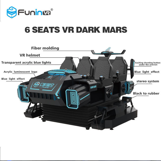Kids Park Family 6 Seats 9D VR Simulator With Electric Crank Platform
